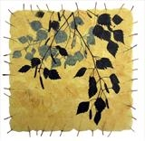Silver Birch leaves by Janet French, Artist Print
