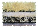 Snow field by Janet French, Artist Print